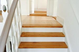 Aufarbeitung Treppengeländer Holz
