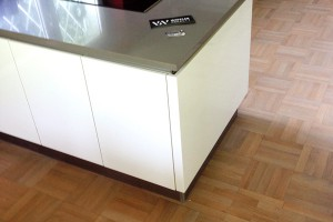 Neuverlegung Parkett Würfelverband in der Küche