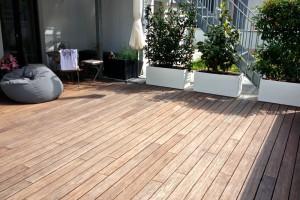 Bambus Terrasse verwittert nach einem Jahr Frankfurt Nordend