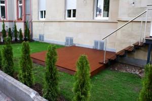 Terrasse im Garten Kapur geölt Frankfurt Nordend