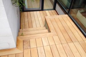 Garapa Terrassendeck glatt Stufen Dreieich